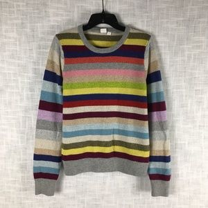 Gap metallic Crazy Stripe women's sweater, size L